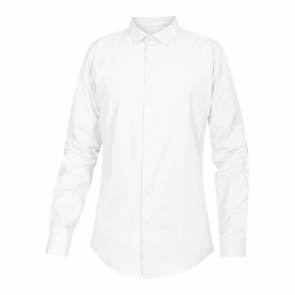 NewTurn stretch slim skjorte - hvid