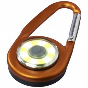 Eye COB-lys med karabinhage