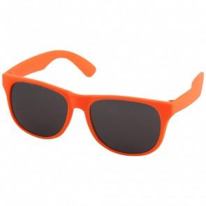 Retro ensfarvede solbriller
