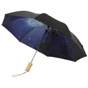 """Clear-night 21"""" foldbar paraply med automatisk åbning"""