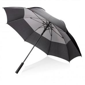 """27"""" auto åben storm paraply, to farvet."""