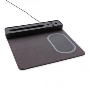 Air musemåtte med 5W trådløs oplader og USB