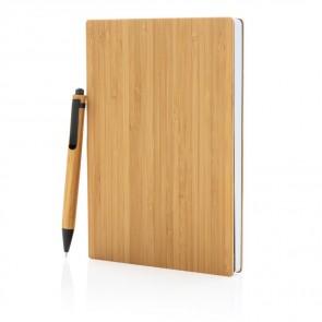 A5 Bambus notesbog & pennesæt