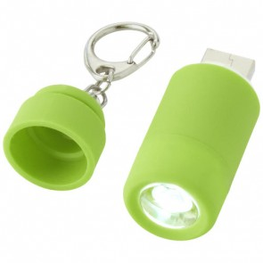 Avior nøglering med USB og genopladeligt LED-lys