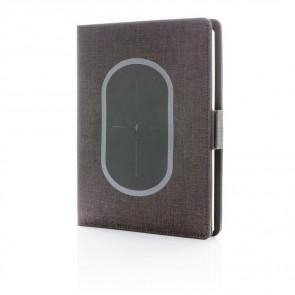 Air notesbog cover i  A5-format med trådløs opladning